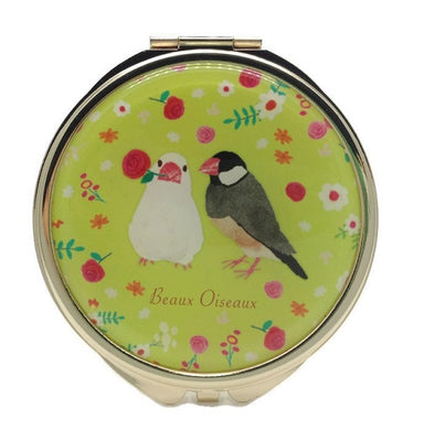 Compact Mirror Pocket Mirror Java Sparrow Finch - Boutique SWEET BIRDIE