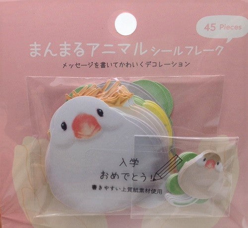 Bird Stickers Flakes Java Sparrow Duck Budgie Budgerigar Parakeet Chick - Boutique SWEET BIRDIE