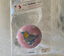 Cockatiel Fabric Button Pin