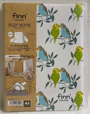 Budgie Budgerigar Parakeet Notebook Cover with a Notebook A5 size Flip Style