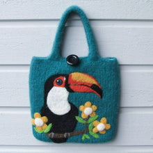 Toucan Wool Felted Bag