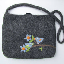 Budgie Budgerigar Parakeet Wool Felted Large Bag Large Size