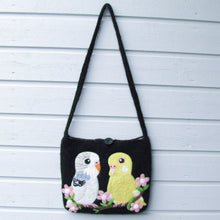 Budgie Budgerigar Parakeet Wool Felted Bag Large Size - Boutique SWEET BIRDIE