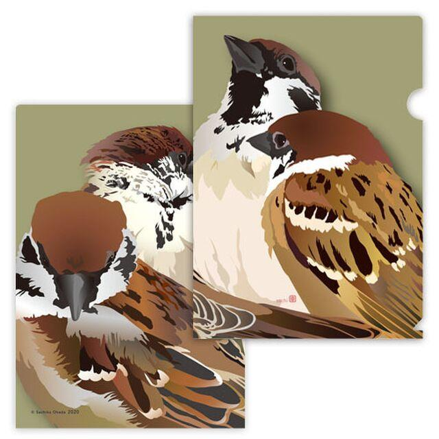 A4 File Folder Organizer Tree Sparrow - Boutique SWEET BIRDIE