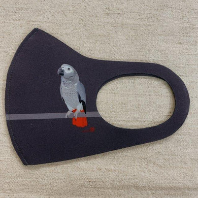 African Gray Parrot Reusable Face Mask Large Size