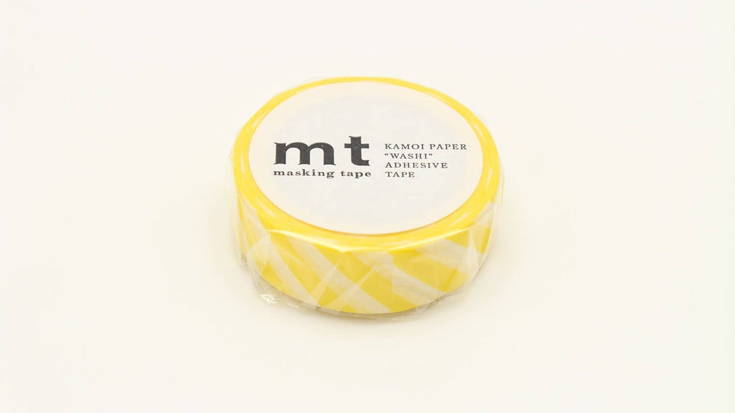 mt 1P Stripe Lemon Japanese Washi Tape MT01D369 - Boutique SWEET BIRDIE