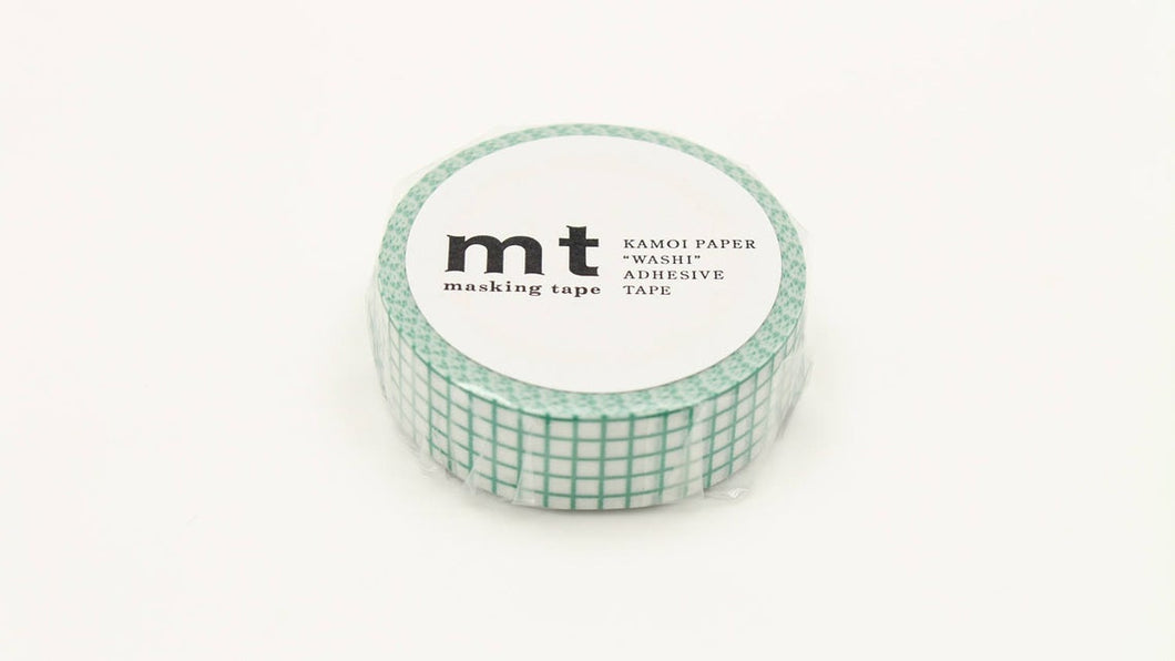 mt 1P Grid Emerald Japanese Washi Tape Masking Tape MT01D397 - Boutique SWEET BIRDIE