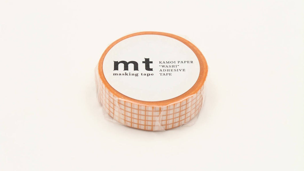 mt 1P Grid Mandarin Japanese Washi Tape MT01D394 - Boutique SWEET BIRDIE