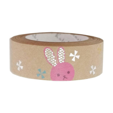 Pink Rabbit Silver Glitter Craft Tape Shinzi Katoh Design ks-ct-10010