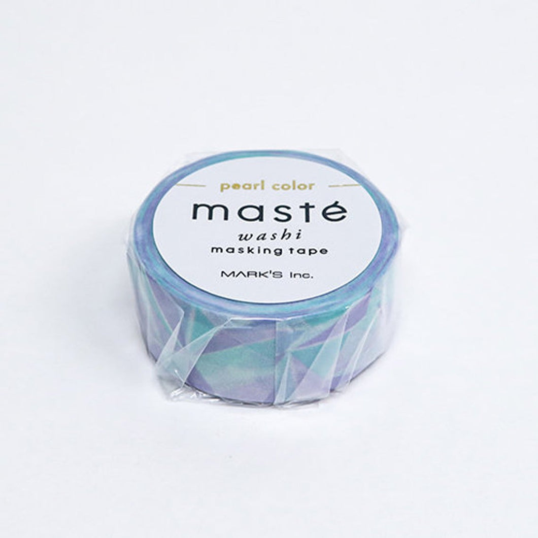 Pearl Geometric Maste Japanese Washi Tape Masking Tape (MSTZB10-D) - Boutique SWEET BIRDIE