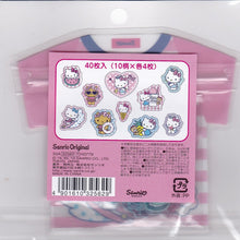 Sanrio Original Hello Kitty Summer Stickers Flakes Pack with Silver Frame 40 pieces 325-627