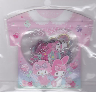 Sanrio Original My Melody Summer Stickers Flakes Pack with Silver Frame 40 pieces 325-651