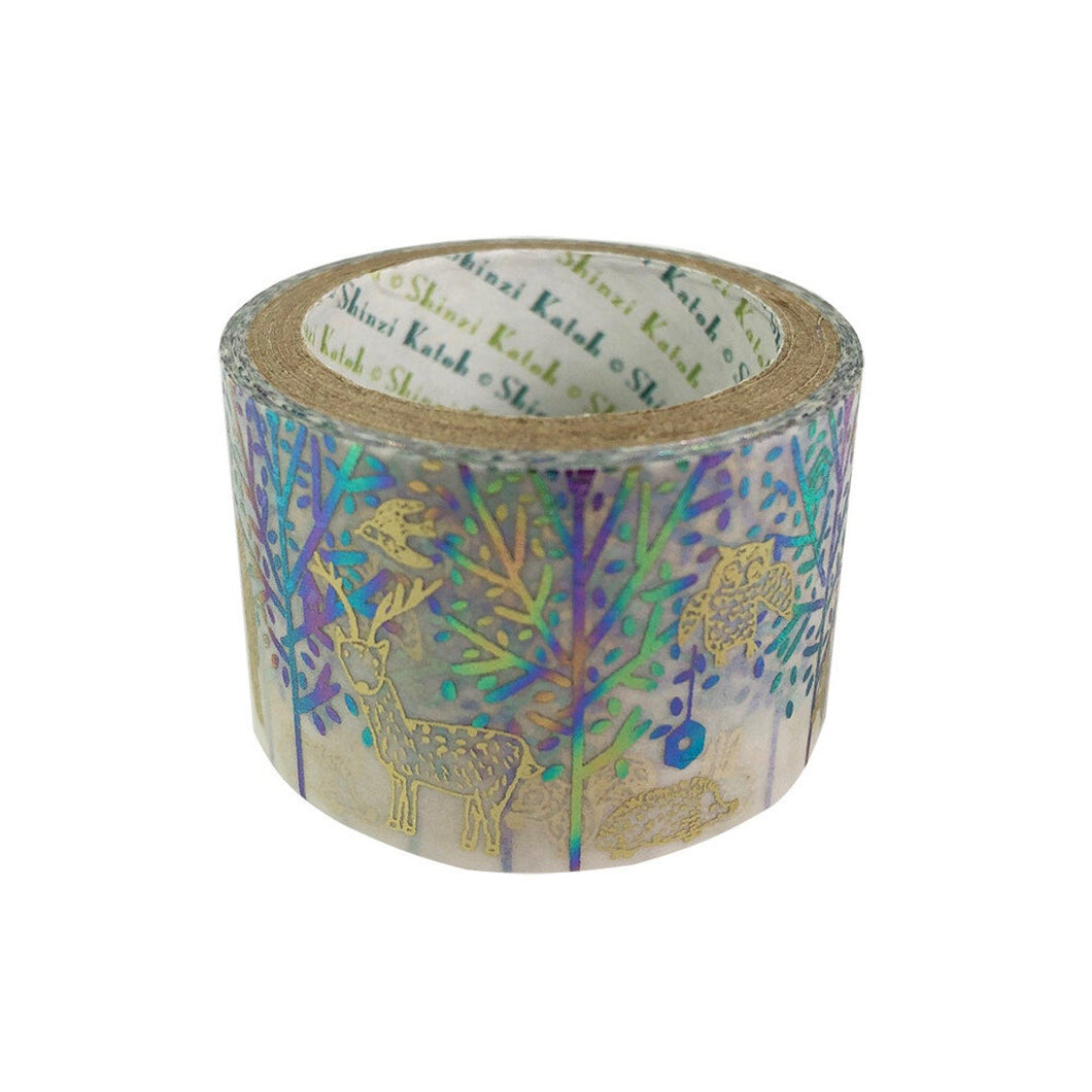 Forest Matt Gold & Rainbow Glitter Japanese Washi Tape Katoh Design ks-dt-40002 - Boutique SWEET BIRDIE