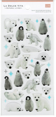 Polar Bear & Penguin Stickers 11912