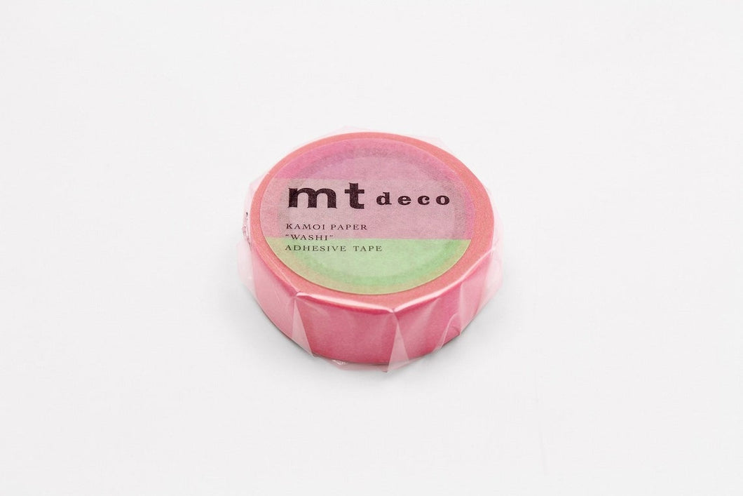 mt deco Fluorescence Gradation Pink x Green Japanese Washi Tape Masking Tape MT01D459 - Boutique SWEET BIRDIE
