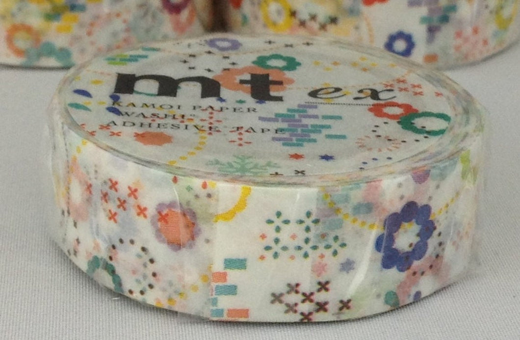mt ex Colorful POP Japanese Washi Tape Masking Tape MTEX1P74 - Boutique SWEET BIRDIE