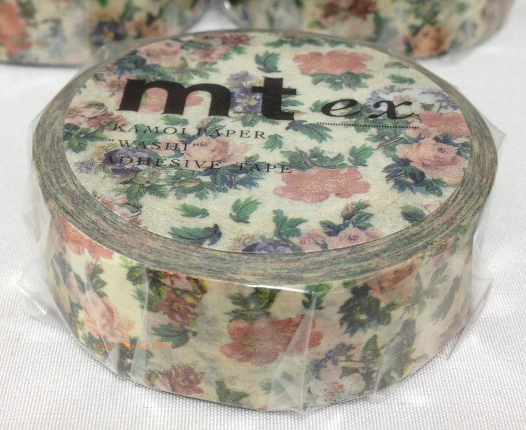 mt ex Floret Botanical Art Japanese Washi Tape MTEX1P103 - Boutique SWEET BIRDIE