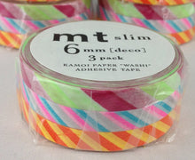 mt slim Twist cord B Japanese Washi Tape 6mm Sets of 3 MTSLIM11