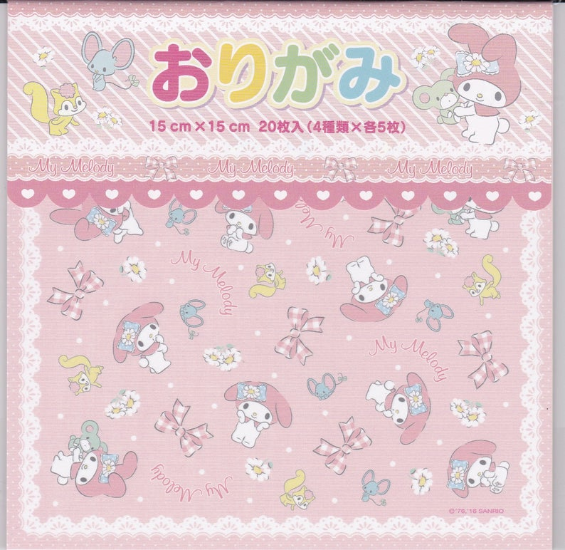 Set of 20 Sanrio Original My Melody Origami 523593 - Boutique SWEET BIRDIE