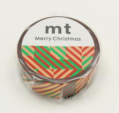 mt Christmas Check Japanese Washi Tape