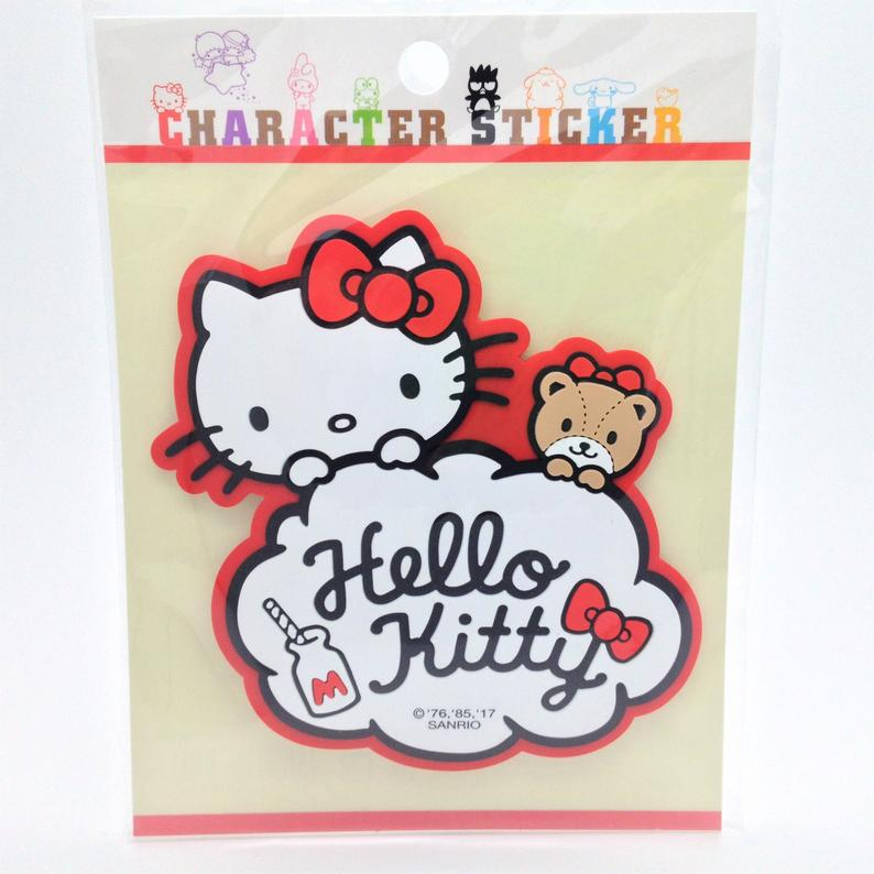 Sanrio Original Hello Kitty Rubber Sticker - Boutique SWEET BIRDIE