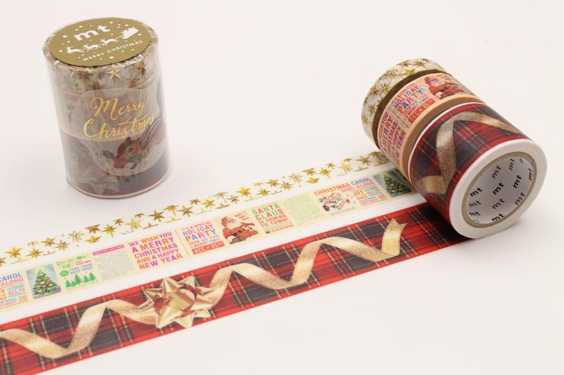 mt Christmas Set A Japanese Washi Tape Top Star Christmas News Christmas Ribbon Squirrel sticker-