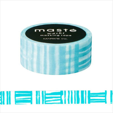 Sky Blue Brush Border maste Japanese Washi Tape Masking Tape