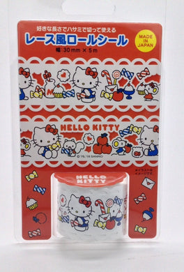 Sanrio Original Hello Kitty Lace Deco Tape Roll Sticker (445151)