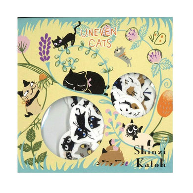Cat Washi Stickers Shinzi Katoh Design Uneven Cats ks-fs-30011 - Boutique SWEET BIRDIE