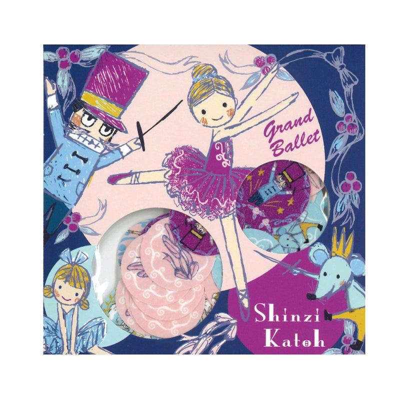 Ballet Ballerina Nutcracker Swan Lake Washi Stickers Shinzi Katoh Design ks-fs-30009