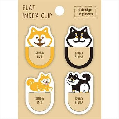 Sets of 16 Shiba Inu Dog Flat Index Clips FC00029 - Boutique SWEET BIRDIE