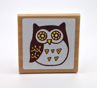 Owl Rubber Stamp
