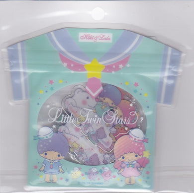 Sanrio Original Little Twin Stars Summer Stickers Flakes Pack with Silver Frame 40 pieces 325-635