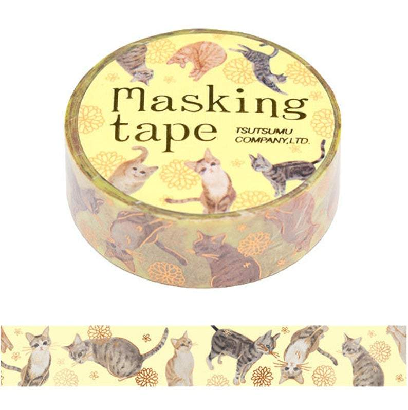 Cat Glitter Washi Tape Masking Tape - Boutique SWEET BIRDIE