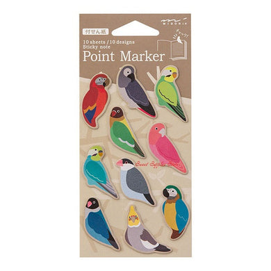 Point Marker Sticky Notes Macaw African Gray Parrot Budgie Budgerigar Parakeet Lovebird Java Sparrow Cockatiel, etc. (11387-006) - Boutique Sweet Birdie