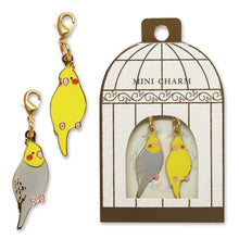 Sets of 2 Cockatiel Metal Parts Charm