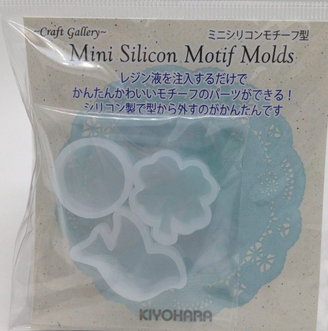 Sets of 3 Mini Silicon Mould Mold for Resin Circle Clover Bird  Craft RSFS-02