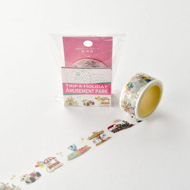 Amusement Park Japanese Die Cut Washi Tape (YD-MK-065) - Boutique SWEET BIRDIE