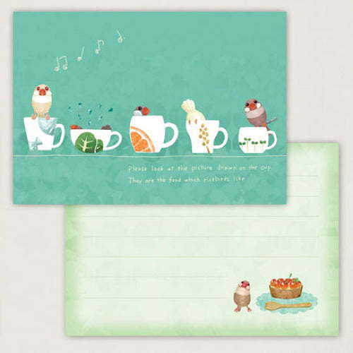 Creative Motion Java Sparrow Memo Pad (cm021) - Boutique SWEET BIRDIE