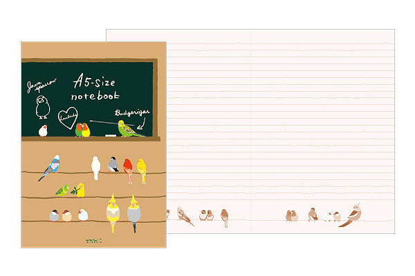 A5 Notebook Budgie  Parakeet Cockatiel Finch Java Sparrow, etc