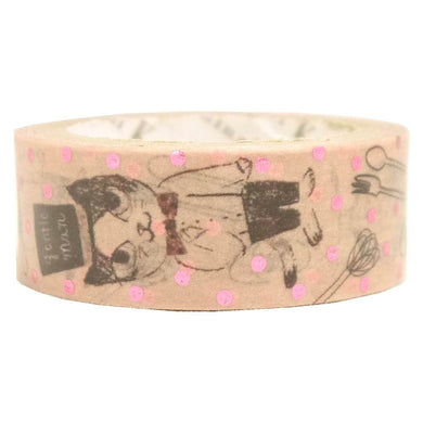 Mystic Cat Pink Glitter Japanese Washi Tape Shinzi Katoh Design - Boutique SWEET BIRDIE