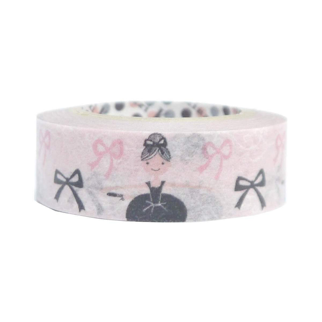 Ballet Ballerina Washi Tape Masking Tape Black & Pink Ballet  - Boutique SWEET BIRDIE