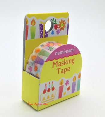 Party Pop Japanese Die Cut Washi Tape - Boutique SWEET BIRDIE