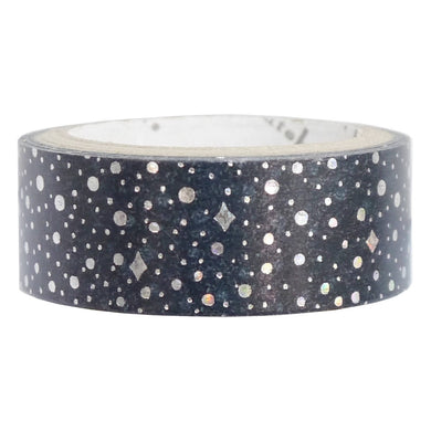 Lactic Way Silver Glitter Japanese Washi Tape Shinzi Katoh Design - Boutique SWEET BIRDIE