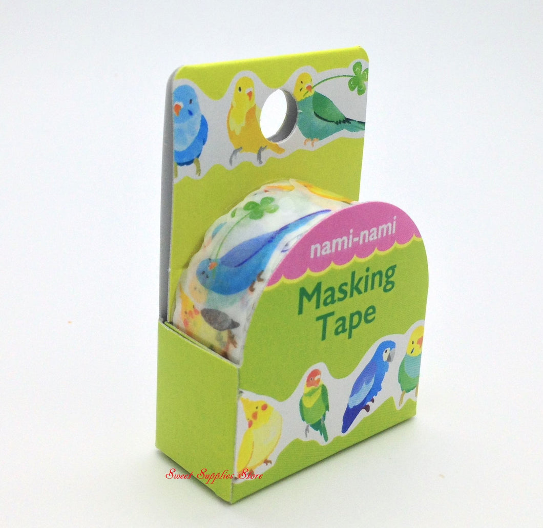 Bird Budgie Cockatiel, etc. Japanese Die Cut Washi Tape (TM00778)