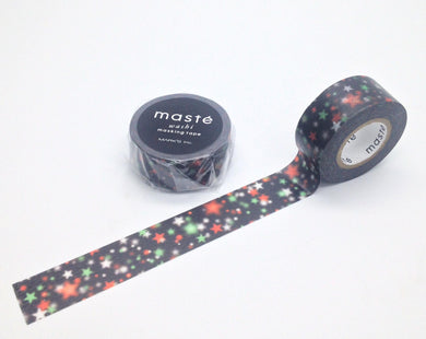 Christmas Neon Star Maste Japanese Washi Tape