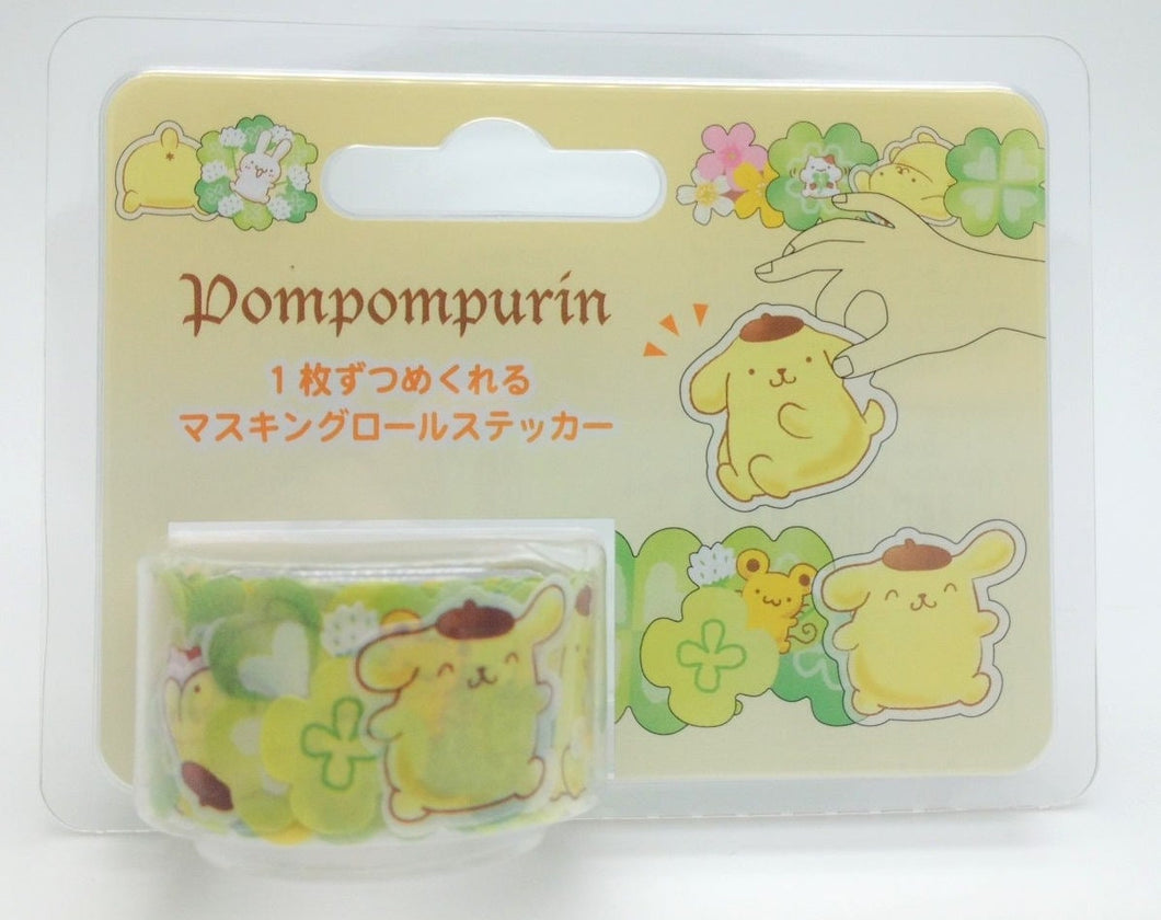 Sanrio Original Pompompurin Roll Stickers - Boutique SWEET BIRDIE