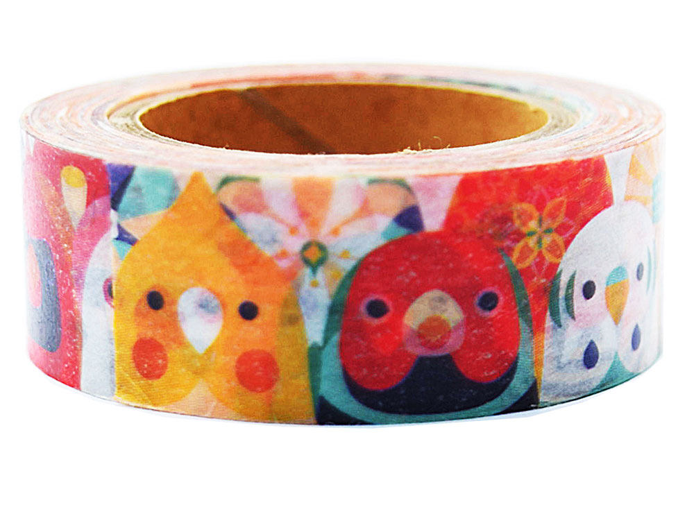 Bird Japanese Washi tape  Cockatiel Gouldian Finch Budgie Budgerigar Parakeet Lovebird Java Sparrow Pacific Parrotlet Monk Parakeet Zebra Finch