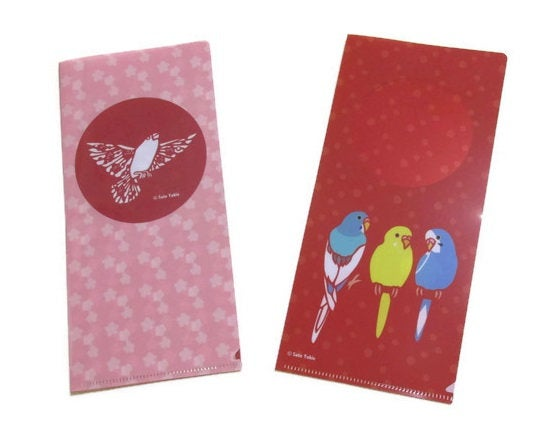 File Folder Organizer for Tickets & Stickers Bird Java Sparrow Budgie Budgerigar Parakeet - Boutique SWEET BIRDIE