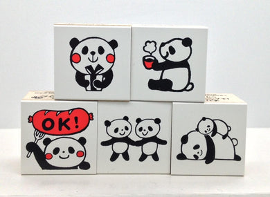 Panda Rubber Stamp - Boutique SWEET BIRDIE